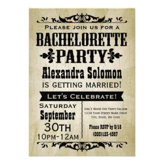 Invitación del fiesta de Bachelorette del país del