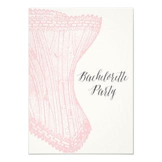 Invitación del fiesta de Bachelorette del vintage