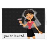 Invitación del fiesta de Bachelorette Felicitación