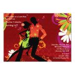Invitación del fiesta de baile de la salsa invitación 12,7 x 17,8 cm