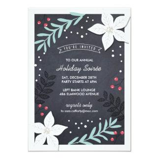Invitación del fiesta de Botanicals del día de