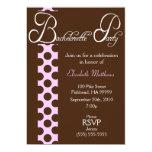 Invitación del fiesta de Brown y de Bachelorette