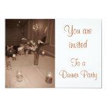 Invitación del fiesta de cena invitación 12,7 x 17,8 cm