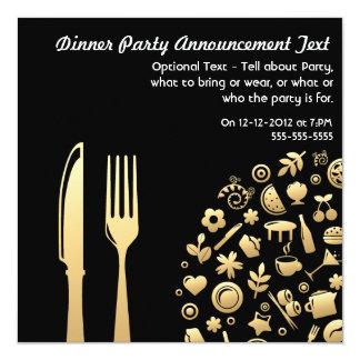Invitación del fiesta de cena - 1