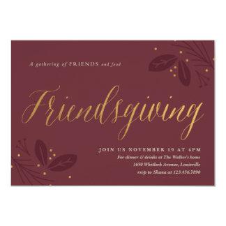 Invitación del fiesta de cena de Friendsgiving