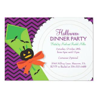Invitación del fiesta de cena de Halloween