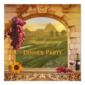 Invitación del fiesta de cena de la acción de
