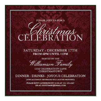 Invitación del fiesta de cena de la celebración
