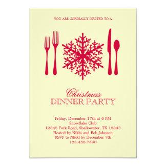 Invitación del fiesta de cena de navidad del