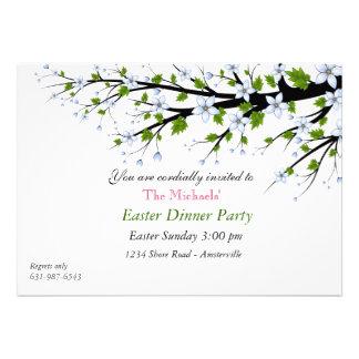Invitación del fiesta de cena de Pascua de las flo