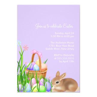 Invitación del fiesta de cena de Pascua del jardín
