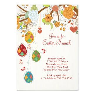 Invitación del fiesta de cena del brunch de Pascua
