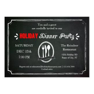Invitación del fiesta de cena del día de fiesta de