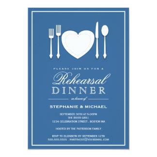 Invitación del fiesta de cena del ensayo del
