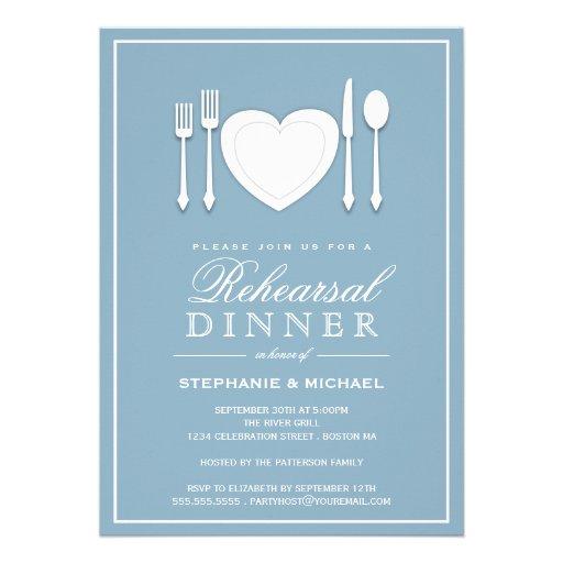 Invitación del fiesta de cena del ensayo del cubie