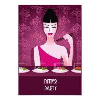 invitación del fiesta de cena del sushi