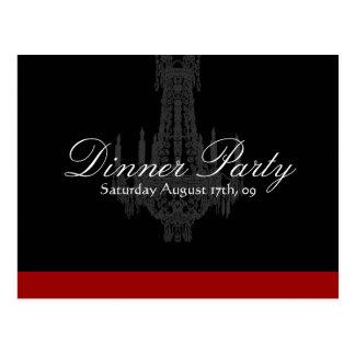 Invitación del fiesta de cena tarjetas postales