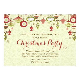 Invitación del fiesta de Chrismas del intercambio