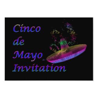 Invitación del fiesta de Cinco de Mayo con el