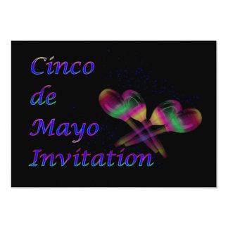 Invitación del fiesta de Cinco de Mayo con maracas