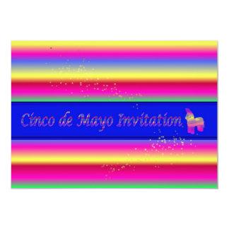 Invitación del fiesta de Cinco de Mayo con pinata