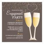 Invitación del fiesta de compromiso de Champán y d