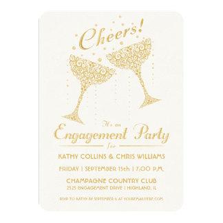 Invitación del fiesta de compromiso de la alegría