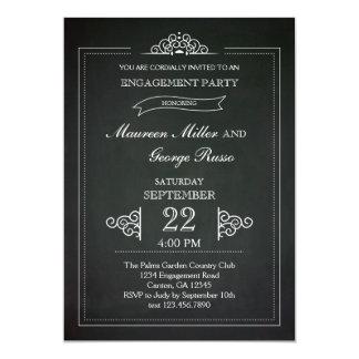 Invitación del fiesta de compromiso de la pizarra