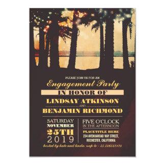 Invitación del fiesta de compromiso de la puesta