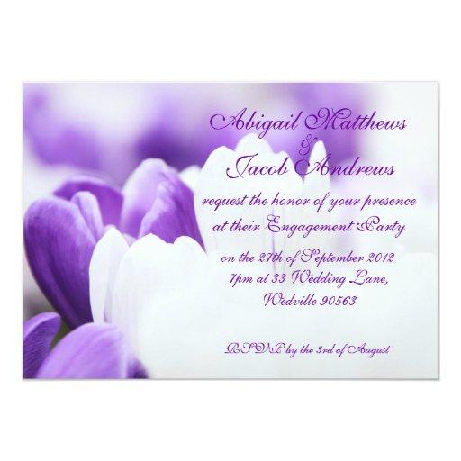 Invitación del fiesta de compromiso de las flores