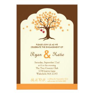 Invitación del fiesta de compromiso del árbol de l