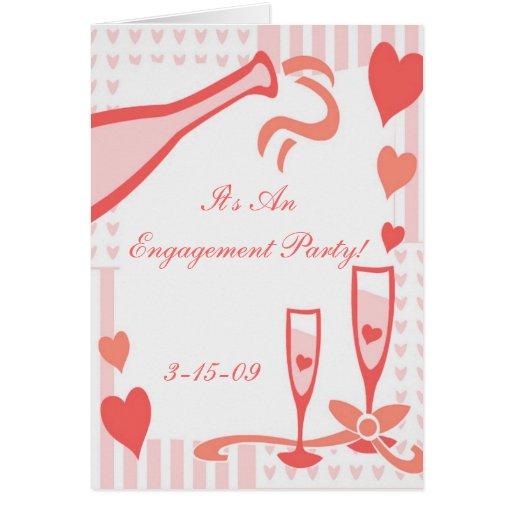 Invitación del fiesta de compromiso del boda tarjeta