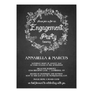 Invitación del fiesta de compromiso - pizarra invitación 12,7 x 17,8 cm