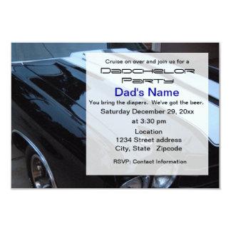 Invitación del fiesta de Dadchelor del coche del