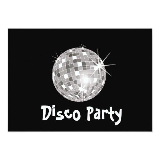 Invitación del fiesta de disco