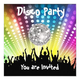 Invitación del fiesta de disco cualquier