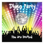 Invitación del fiesta de disco cualquier celebraci