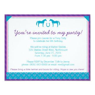 Invitación del fiesta de dos potros (pequeña)