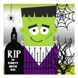 Invitación del fiesta de Frankenstein Halloween