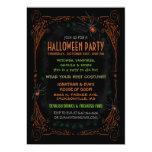 Invitación del fiesta de Halloween - arañas Invitación 12,7 X 17,8 Cm