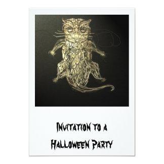 Invitación del fiesta de Halloween: Búho de la