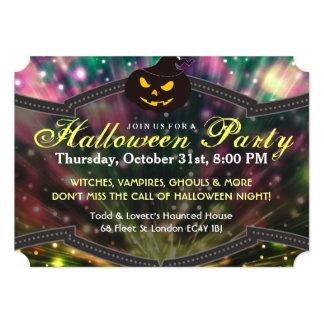 Invitación del fiesta de Halloween - calabaza