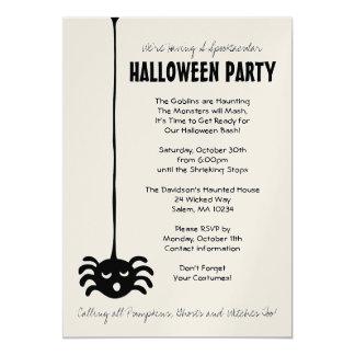 Invitación del fiesta de Halloween de la araña