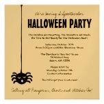 Invitación del fiesta de Halloween de la araña - c