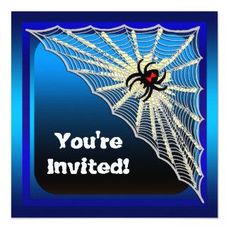 Invitación del fiesta de Halloween de la araña de