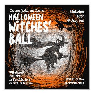 Invitación del fiesta de Halloween de la bola de