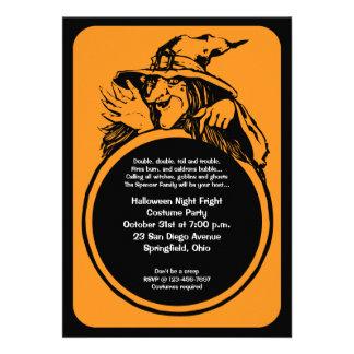 Invitación del fiesta de Halloween de la bola de c