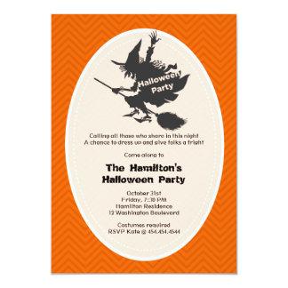 Invitación del fiesta de Halloween de la bruja Invitación 12,7 X 17,8 Cm