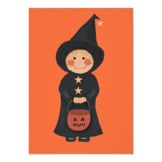 Invitación del fiesta de Halloween de la bruja