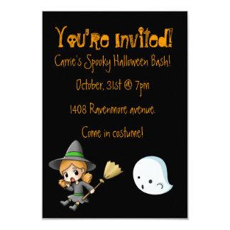 Invitación del fiesta de Halloween de la bruja y Invitación 8,9 X 12,7 Cm